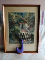 21174A27 Csákvári Szabó Lajos akvarell
