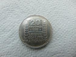 Franciaország ezüst 20 frank 1933 20.00 gramm