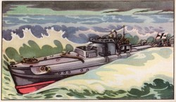 Gyűjthető grafikus katonai képeslap, N 11 De Kriegsmarine