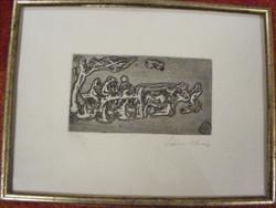 Szőnyi István Parasztok szekéren 1926 rézkarc