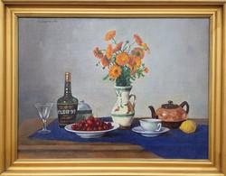 Bánovszky Miklós / Asztali csendélet cseresznyével
