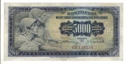 5000 dinár 1955 Jugoszlávia 2. Ritka!