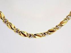 Sárga-fehér arany nyaklánc (ZAL-Au98074)