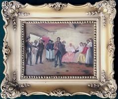 Ismeretlen festőművész – Leánykérés című festménye – 157.