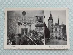 Régi képeslap 1939 Kassa Rákóczi emlékmű Dóm levelezőlap