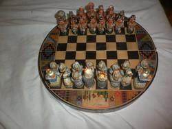 Perui kerámia sakk készlet inka és spanyol sereg