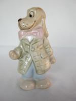 Royal Dux porcelán mókás kutya