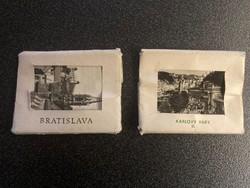 Régi fénykép 2x12 db sorozat, Pozsony Bratislava, Karlovy Vary 1964