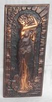 Dombornyomott réz falikép