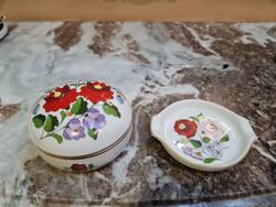 Kalocsai mintás bonbonier és hamutál