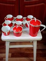 Holloházi porcelán kávés készlet 6 személyes.