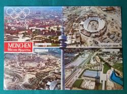 Németország,Müncheni Olimpia 1972,postatiszta képeslap