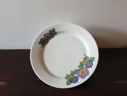 """Alföldi porcelán lapos tányér ritkább lila virágos """"hippi"""" mintával"""