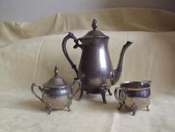Fém kávéskanna vagy teáskanna cukortartó kiöntő