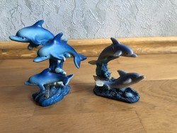 2 db Delfin formájú dísztárgy