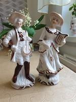 Antik Hummel porcelán figura pár, zenélős pár eladó!