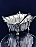 Csodás ezüst kínáló kanállal