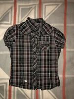 Crashone szürke-fekete kockás ing 158/164