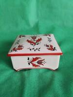 Csodálatos Drasche fedeles doboz, ékszertartó - antik