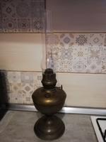 Ritka nagy Budapest lámpagyár antik réz petróleum lámpa