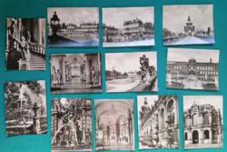 Németország,Drezda Zwinger,miniképek,fekete-fehér sorozat