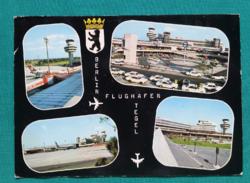 Németország,Berlin Tegel repülőtér,repülő,használt képeslap