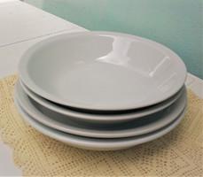 Fehér porcelán főzelékes / leveses tányérok, 4 db tányér