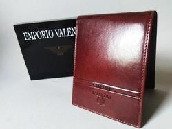 Emporio Valentini gyönyörű bőr férfi pénztárca, dobozában
