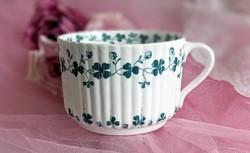 Antik Sarreguemines porcelán nagy bögre csésze 10.5x7cm