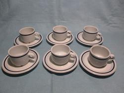 Alföldi kék csíkos kávés készlet, csésze