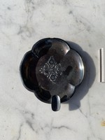 Ezüst virág mintás hamutartó