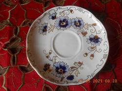 Zsolnay porcelán, búzavirág mintás kávés kistányér / alátét