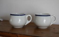 Zsolnay mokkás, kávés csészék, bisztro porcelán, retro hibátlan