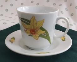 Alföldi nárciszos kávés csésze+alj