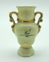 B637 Hollóházi ibolya serleg váza - szép hibátlan állapotban