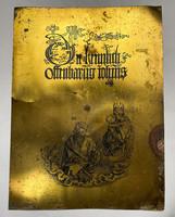 Dürer,Apokalipszis könyvéből két rézlemez nyomat!