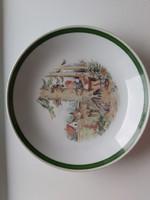 Kahla jelzett mesejelenetes gyermek mély tányér Piroska és a farkas