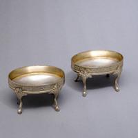 Klasszicista antik ezüst fűszertartó pár