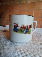 Zsolnay Iris kávés bögre