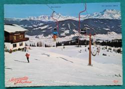 Ausztria,Flachau,osztrák sítelep,postatiszta képeslap