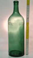 """""""Kunz Tivadar Pesterzsébet"""" zöld ásványvizes üveg (1747)"""