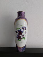 Hollóházi kobaltkék ibolyás váza 25 cm