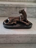Artdeco leopárd bronz szobor