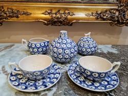 Fajansz 2 személyes teás készlet