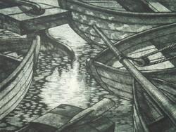 Szennik György (1923 – 2007) : Halászbárkák
