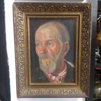Portré Olaj Festmény Szabó Vladimir.