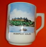 Zsolnay ritka Budapesti emlék csésze