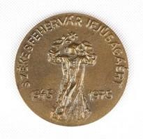1E456 Székesfehérvár ifjúságáért bronz plakett 1945-1975