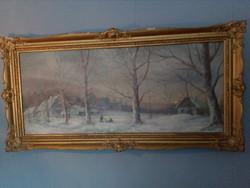 Katona Nándor gyönyörű havas tájképe!