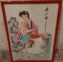 Japán nő - Ismeretlen festő műve